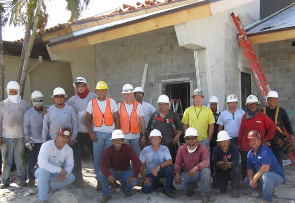 construction workers of new expansion