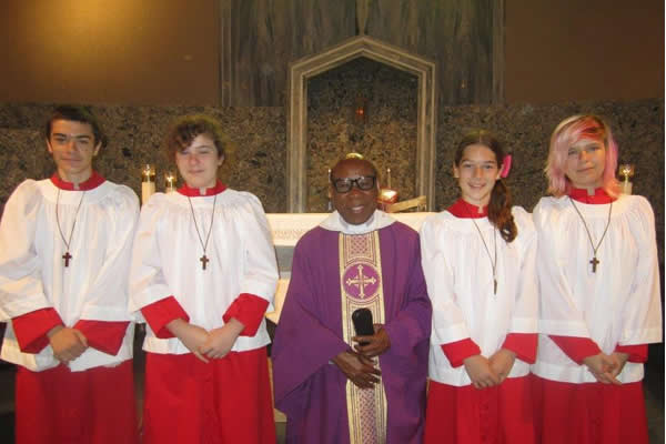 Fr. Francis with Altar Servers